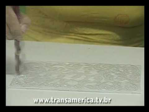 Tv Transamérica Caixa Em Artesanato Madrepérola