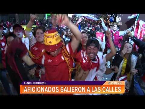 Así celebraron los hinchas de Santa Fe triunfo de la Copa Sudamericana - La Guardia Albi Roja Sur - Independiente Santa Fe