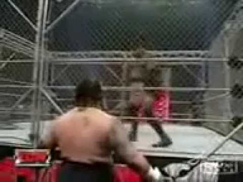 WWE Raw Bobby Lashley Breaks The Cage