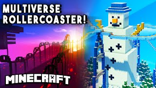 Minecraft Maps - MULTIVERSE ROLLER COASTER (Travel Across Dimensions In This Roller coaster!)