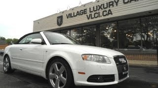 2009 Audi A4 Cabriolet In Review - Village Luxury Cars Toronto