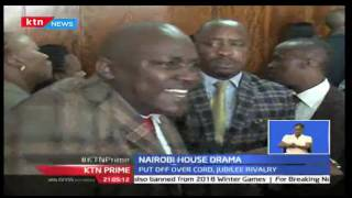 Chaos  At The Nairobi County Assembly During The Official Launch Of The City County Assembly Chamber