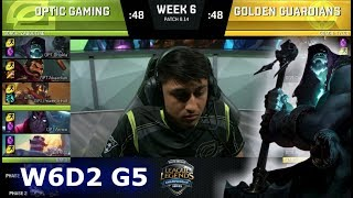 Video OpTic Gaming vs Golden Guardians | Week 6 Day 2 S8 NA LCS Summer 2018 | OPT vs GGS W6D2 MP3, 3GP, MP4, WEBM, AVI, FLV Agustus 2018