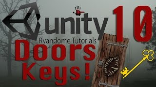 Door That Opens With A Key! How To Make A Horror Game 10 Unity 3D.