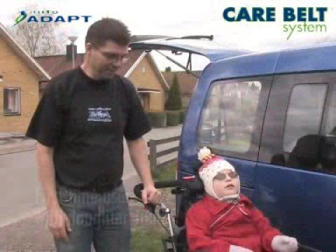 Autoadapt care belt system for disabled driving adaptation