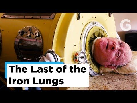 The last living Polio survivor from the 1950's. He still uses the Iron Lung all day, every day.