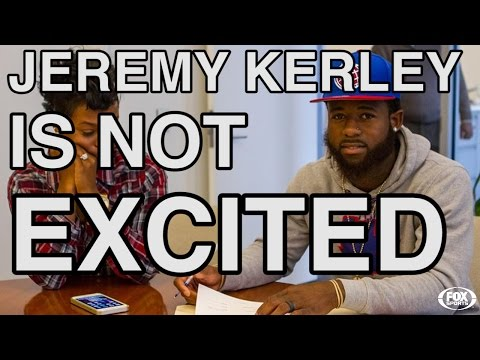 Excited - The New York Jets tweeted a photo of Jeremy Kerley signing his new 4-year contract. He was not excited. But it turns out, he doesn't get excited about anything! Join in as we find out what...