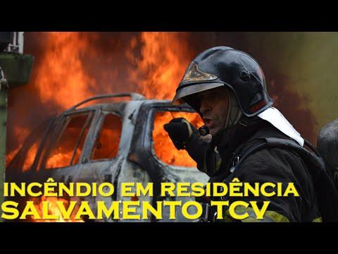 VIDEO – Deslocamento e combate à incêndio em veículo – Bombeiros TUCURUVI