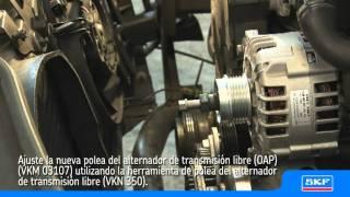 SKF Polea del alternador de transmision libre (OAP) VKM 03107 VW Passat 1.9 TDI