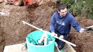 How to install your own septic system! Video #3Daniel WoodellHow to install your own septic system!During construction of my brother's new house we decided to install his septic system.  This video shows the process it takes and how to go about doing it yourself to save a lot of money.  It shows you what you need and the time it takes.  This is a pump to pressure distribution system this series of videos will shows how to install that type of system yourself.