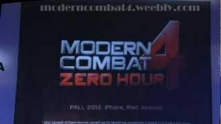 Modern Combat 4: Zero Hour Trailer