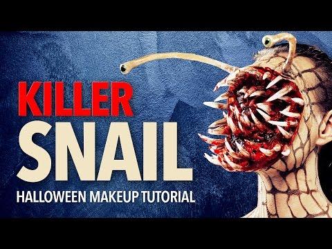 Horrifying Killer Snail Makeup Tutorial