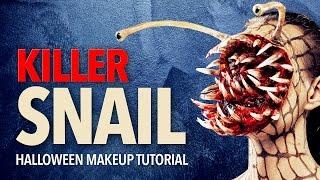 Killer snail Halloween makeup tutorial