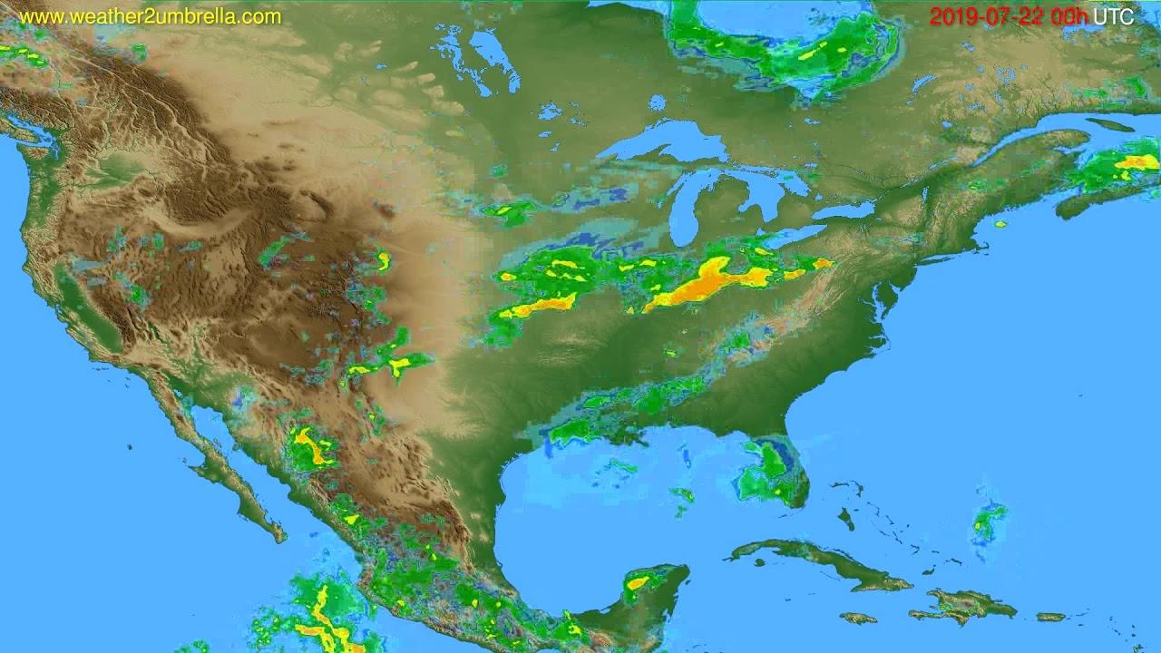 Radar forecast USA & Canada // modelrun: 12h UTC 2019-07-21