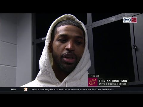 Tristan Thompson loved the challenge of guarding LeBron James | CAVS-LAKERS POSTGAME
