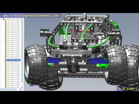 virtual - This is our Virtual Lego® Technic Model vLTm 8284-1. Dare to assemble from its parts using any of the selected CAD programs? In our site you will find the virtual parts needed. To facilitate...