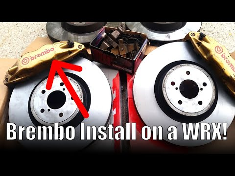 Subaru WRX Brembo brake install (Sti Brakes) – Boosted Films