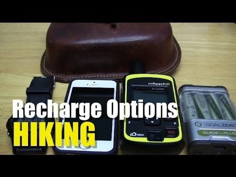 Recharging Options for Electronics While Hiking