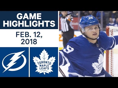 Video: NHL Game Highlights | Lightning vs. Maple Leafs - Feb. 12, 2018