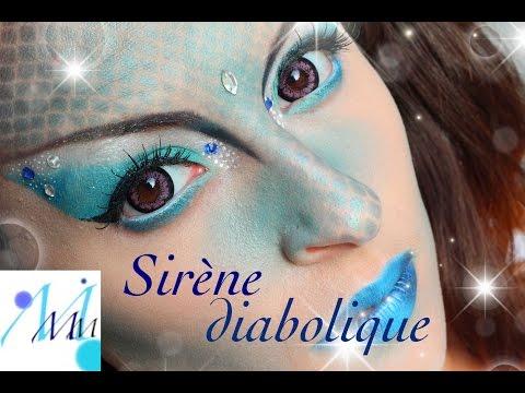 Maquillage Halloween : Sirène diabolique