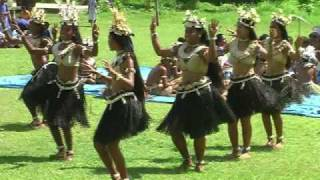 Fiji Dancing Banaban School On Rabi Island  Performing Traditional Dances.
