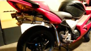 10. 2002 HONDA VFR800 DELKEVIC SS70 EXHAUST! SOUNDS SWEET!!