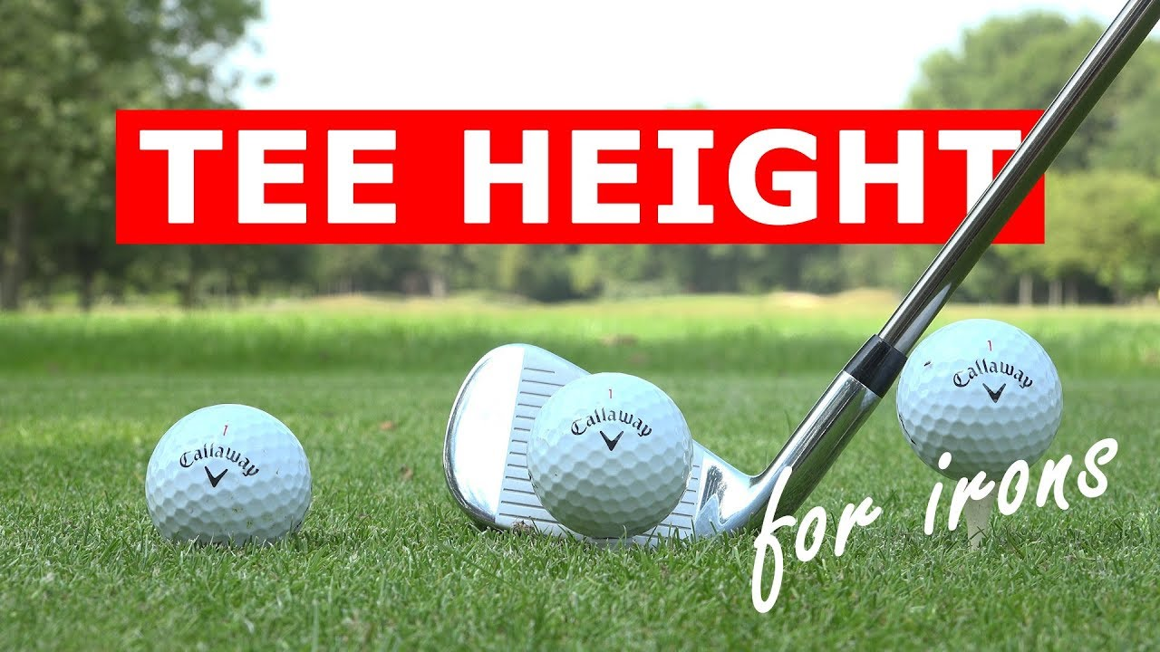 Perfect tee height for irons -  hit your irons further from the tee