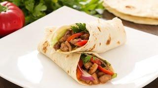 Sriracha Chicken Wrap Recipe by Home Cooking Adventure