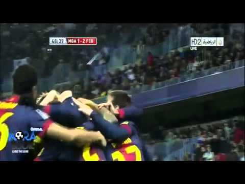 Barcelona Vs Malaga 4 - 2 All Goals & Highlights HD 24-01-2013