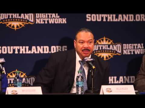 Islanders Men's Basketball vs  Sam Houston State Postgame Press Conference