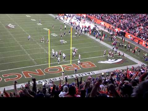 Eric Decker TD pass from 20 yards. Broncos vs Charger Week 10