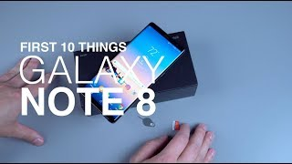 Video Galaxy Note 8: First 10 Things to Do! MP3, 3GP, MP4, WEBM, AVI, FLV November 2017