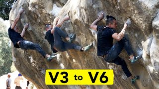 Climbing Technique and Dynamic Movement Progression || V3 to V6 by  rockentry