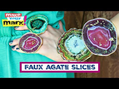 Faux Agate Jewelry
