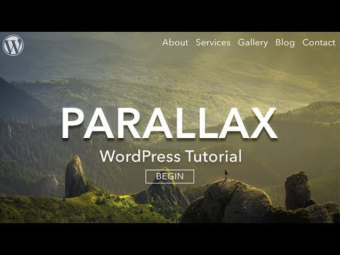 How to Make a Parallax WordPress Website 2016 – AMAZING!
