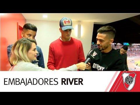 Visita especial en el partido de River vs. Flamengo