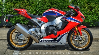 10. 2017 Honda CBR1000RR SP Review of Specs + Start-Up | CBR Sport Bike / Motorcycle Walk-Around | HRC