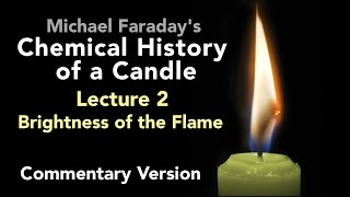 "Bill Hammack & Don DeCoste highlight the key points of Lecture Two of Michael Faraday's lectures on The Chemical History of a Candle. A free companion book helps modern viewers understand each lecture — details at http://www.engineerguy.com — as does this commentary track and closed captions for each lecture.►Free Companion book to this video series http://www.engineerguy.com/faradayText of Every Lecture  Essential Background  Guides to Every Lecture  Teaching Guide & Student ActivitiesIn these lectures Michael Faraday's careful examination of a burning candle reveals the fundamental concepts of chemistry, while at the same time superbly demonstrating the scientific method. In this lecture Faraday reveals why a candle's flame is bright. To do this he investigates the properties of the flame. LINKS TO OTHER VIDEOS IN THIS SERIES► Lectures(1/6) Introduction to Michael Faraday's Chemical History of a Candlehttps://www.youtube.com/watch?v=RrHnLXMTOWM(2/6) Lecture One: A Candle: Sources of its Flamehttps://www.youtube.com/watch?v=6W0MHZ4jb4A(3/6) Lecture Two: Brightness of the Flamehttps://www.youtube.com/watch?v=B8vSLgaW9WQ(4/6) Lecture Three: Products of Combustionhttps://www.youtube.com/watch?v=31pLJyReFXw(5/6) Lecture Four: The Nature of the Atmospherehttps://www.youtube.com/watch?v=v1DWHeouJYM(6/6) Lecture Five: Respiration & its Analogy to the Burning of a Candlehttps://www.youtube.com/watch?v=Fb4RoPEtwso► Bonus Videos: Lectures with CommentaryLecture One: A Candle: Sources of its Flame (Commentary version)https://www.youtube.com/watch?v=ce0g0e9NmgQLecture Two: Brightness of the Flame (Commentary version)https://www.youtube.com/watch?v=grWNnVB9B-4Lecture Three: Products of Combustion (Commentary version)https://www.youtube.com/watch?v=0s8anLurWp0Lecture Four: The Nature of the Atmosphere (Commentary version)https://www.youtube.com/watch?v=WLgxPKU-JsILecture Five: Respiration & its Analogy to the Burning of a Candle (Commentary version)https://www.youtube.com/watch?v=tCmZfnT6_M4►Subscribe now!  https://www.youtube.com/subscription_center?add_user=engineerguyvideo►Become an advanced viewer of Engineer Guy videos - help evaluate early draftshttp://www.engineerguy.com/previewCOMPANION BOOK DETAILSThe companion book is available as an ebook, in paperback and hardcover — and for free as a PDF. Details on all versions are at http://www.engineerguy.com/faradayMichael Faraday's The Chemical History of a Candlewith Guides to the Lectures, Teaching Guides & Student ActivitiesBill Hammack & Don DeCoste190 pages  5 x 8  14 illustrationsHardcover (Casebound)  ISBN 978-0-9838661-8-0  $24.95Paper ISBN 978-1-945441-00-4 $11.99eBook  ISBN 978-0-9839661-9-7  $3.99Audience: 01 — General TradeSubjectsSCI013000   SCIENCE / Chemistry / GeneralSCI028000   SCIENCE / Experiments & ProjectsSCI000000   SCIENCE / GeneralEDU029030  EDUCATION / Teaching Methods & Materials / Science & TechnologyThis book introduces modern readers to Michael Faraday's great nineteenth-century lectures on The Chemical History of a Candle. This companion to the YouTube series contains supplemental material to help readers appreciate Faraday's key insight that ""there is no more open door by which you can enter into the study of science than by considering the physical phenomena of a candle."" Through a careful examination of a burning candle,  Faraday's lectures introduce readers to the concepts of mass, density, heat conduction, capillary action, and convection currents. They demonstrate the difference between chemical and physical processes, such as melting, vaporization, incandescence, and all types of combustion. And the lectures reveal the properties of hydrogen, oxygen, nitrogen, and carbon dioxide, including their relative masses and the makeup of the atmosphere. The lectures wrap up with a grand, and startling, analogy: by understanding the chemical behavior of a candle the reader can grasp the basics of respiration. To help readers understand Faraday's key points this book has an ""Essential Background"" section that explains in modern terms how a candle works, introductory guides for each lecture written in contemporary language, and seven student activities with teaching guides.Author BiosBill Hammack is a Professor of Chemical & Biomolecular Engineering at the University of Illinois—Urbana, where he focuses on educating the public about engineering and science. He is the creator and host of the popular YouTube channel engineerguyvideo. Don DeCoste is a Specialist in Education in the Department of Chemistry at the University of Illinois—Urbana, where he teaches freshmen and pre-service high school chemistry teachers. He is the co-author of four chemistry textbooks."