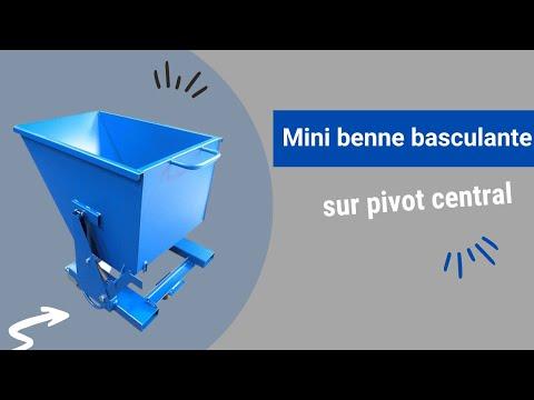 Video Youtube Mini benne sur pivot central pour charges légères - Capacité 240 à 390 litres - Charge inférieure à 750 kg