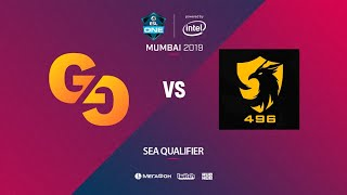 Genuine Gaming vs 496 Gaming, ESL One Mumbai SEA Quals, bo3, game 1 [Eiritel]