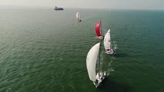 DAMEN Breskens Sailing Weekend vanuit de lucht