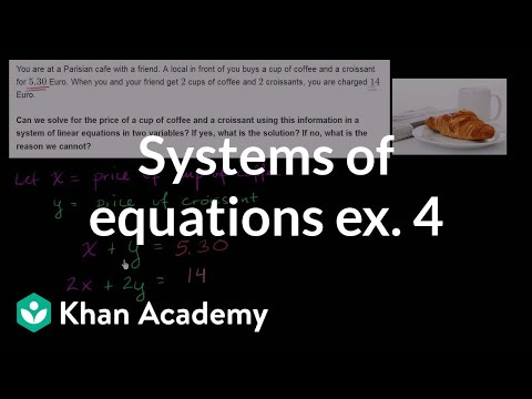 Systems of equations with elimination: coffee and croissants (video ...