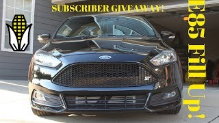 In today's video we fill the ST up on E-85! Be sure to enter my 1000 Subscriber giveaway! By 1. Like this video. 2. Comment on this...
