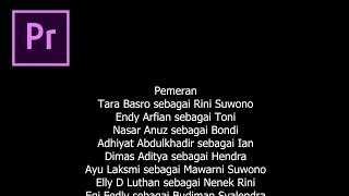 Cara Membuat Credit Title di Adobe Premiere Pro CC - Tutorial Indonesia