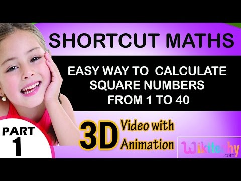 Easy way to  Calculate Square numbers from 1 to 40 maths class 5 6 7 8 9 10 tricks shortcuts