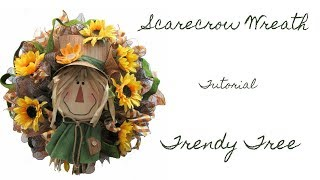 2017 Scarecrow Head Wreath Tutorial by Trendy Tree