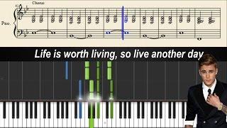 Justin Bieber - Life Is Worth Living - Piano Tutorial + Sheets & Lyrics