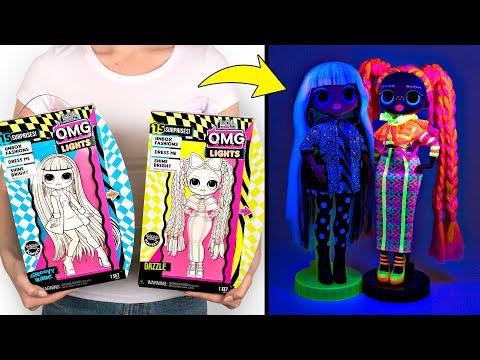 Membuka Kotak Mainan L.O.L Surprise OMG Lights Fashion Dolls Baru