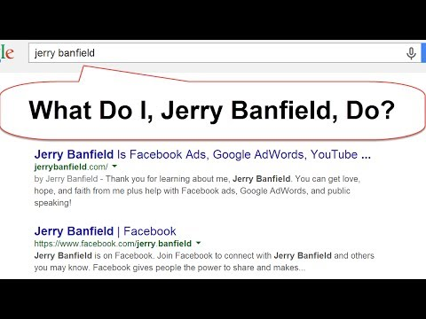 Jerry Banfield Does Facebook Ads Google Adwords Youtube Advertising and Online Business Growth