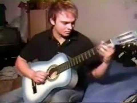 Los simpsons en guitarra acústica